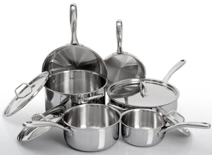 Duxtop Whole Clad Tri Ply Stainless Steel Cookware Set