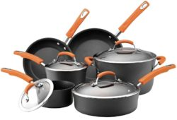 Rachael Ray Hard Anodized Nonstick Dishwasher Safe 10-Piece Cookware Set