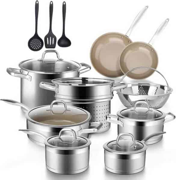 Duxtop Professional Stainless-Steel Induction Cookware Set