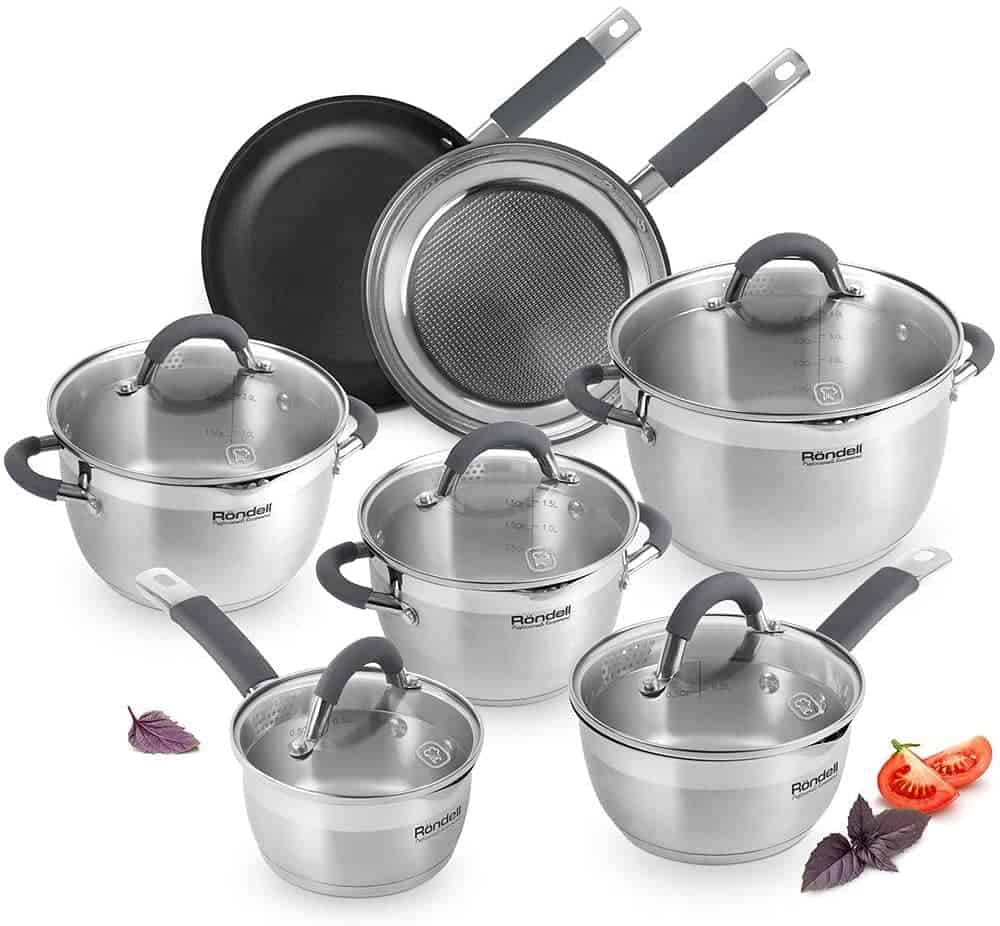 Rondell Flamme Stainless Steel Cookware Set