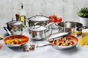Gotham Steel Stainless Steel Cookware Set