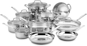 Cuisinart 77-17N 17 Piece Chef's Classic Stainless-Steel Cookware set